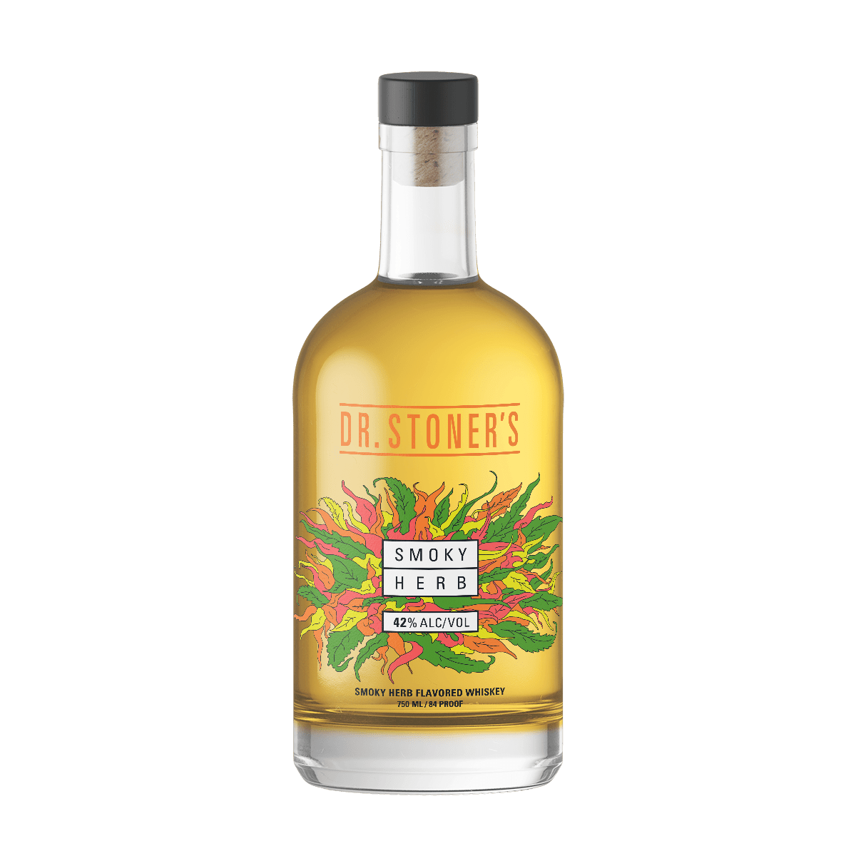 Dr. Stoner's Smoky Herb Flavored Spirit Whiskey