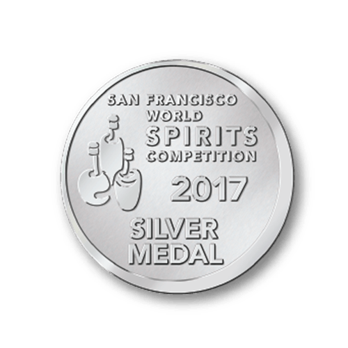 San Francisco World Spirits Competition 2017 Silver Medal